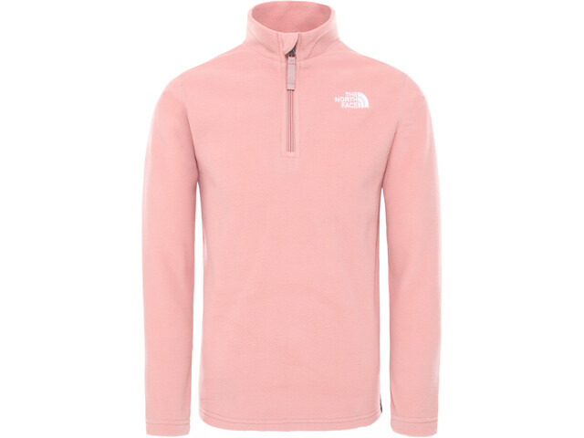 The North Face Glacier Pull Polaire Zip 1/4 Garçon, pink clay